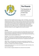oe newsletter may 18