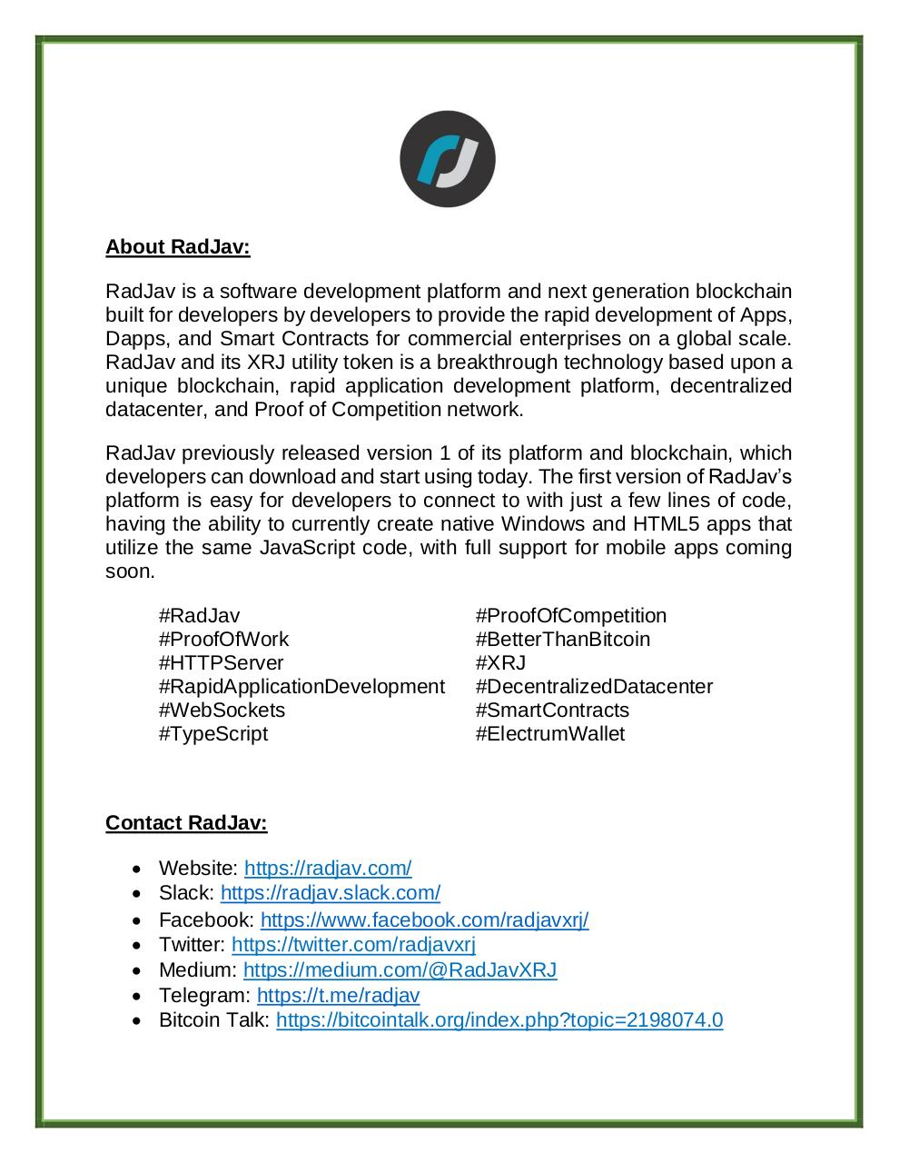 Document preview RadJav_Report__Electrum_Wallet_Integration_and_ElectrumXRJv1_Launch.pdf - page 3/5