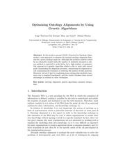 PDF Document ontology matching genetic algorithms