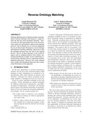 PDF Document reverse ontology matching