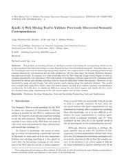 PDF Document validation semantic correspondences
