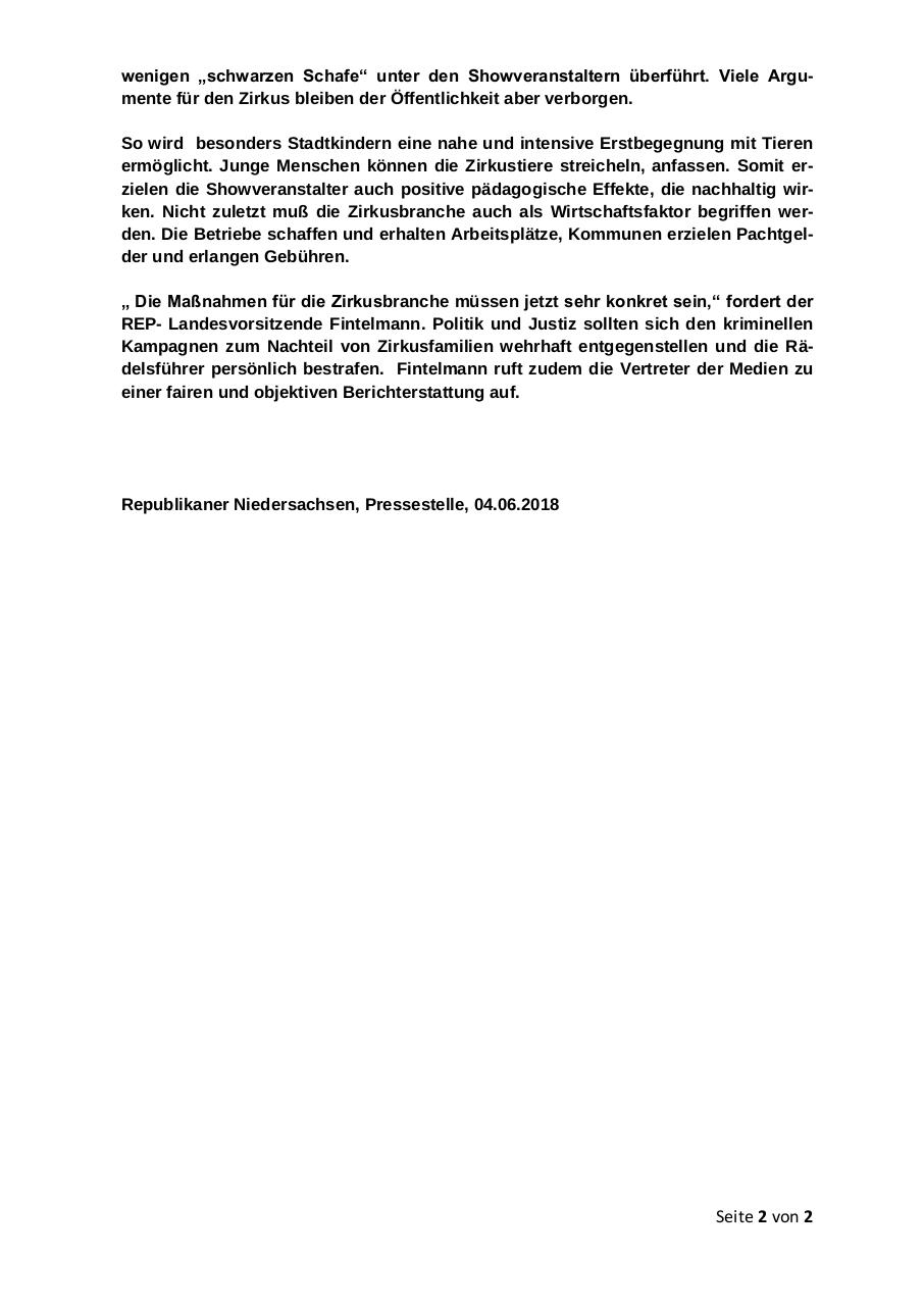 Document preview PM REP ZIRKUSBETRIEBE NETZ.pdf - page 2/2