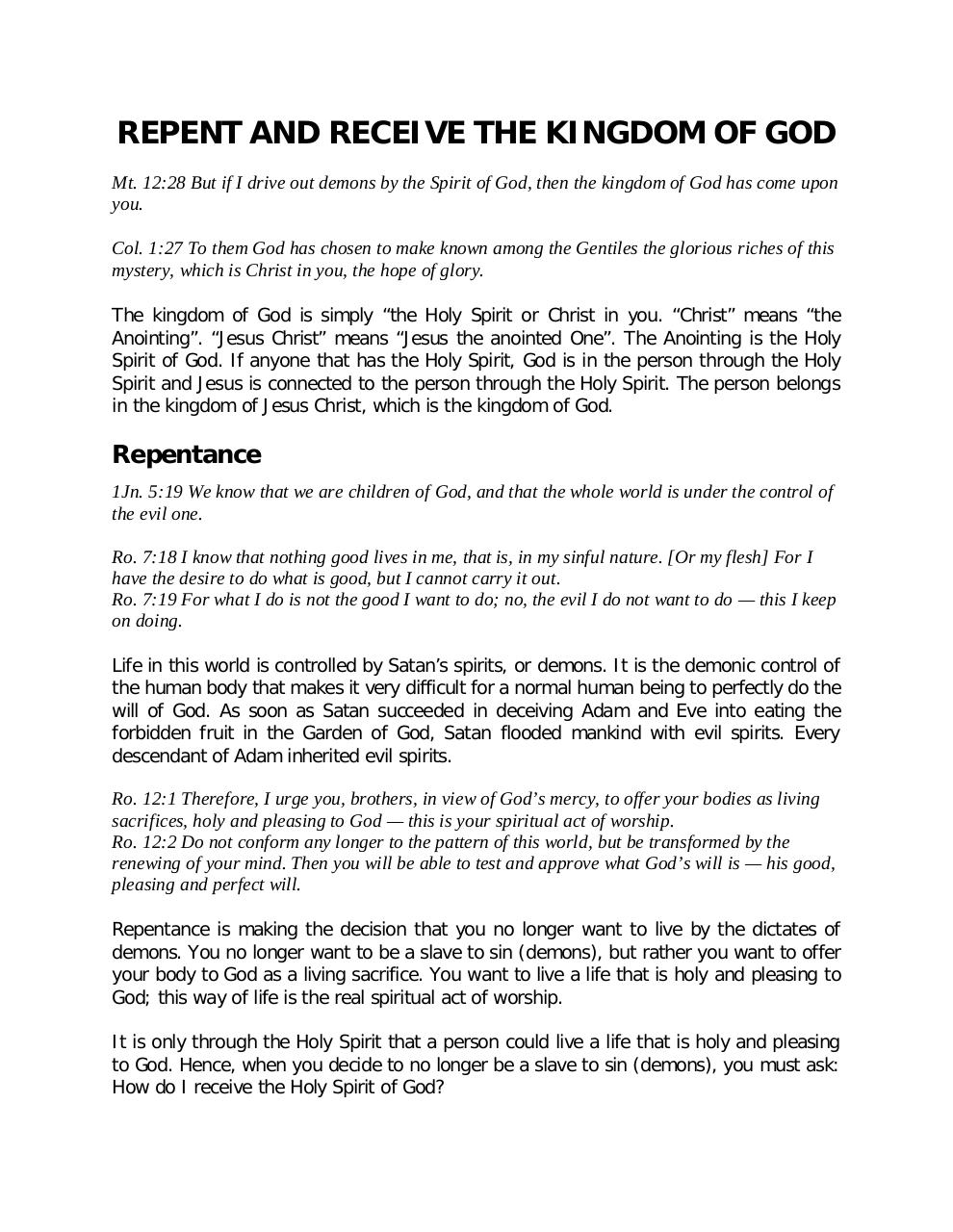 REPENT AND RECEIVE THE KNIGDOM OF GOD.pdf - page 1/4