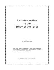 an intro to the tarot   1920