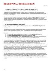 begrippen en toepassingen van  loting  v 2018 10 07
