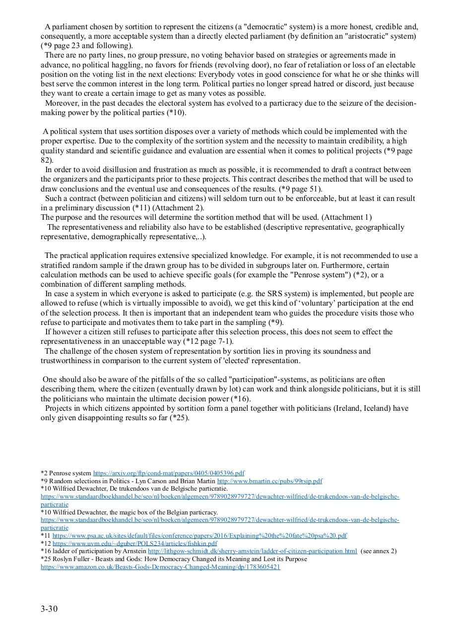 Sortition as a democratic system for the designation of a real people's representation proposition I - II  v 2018 03 11 .pdf - page 3/30