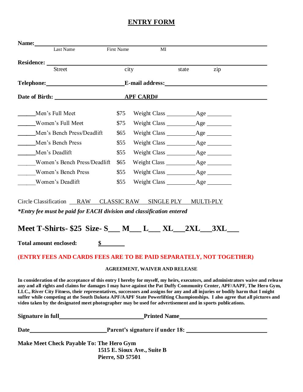 Document preview Entry Form.pdf - page 2/2