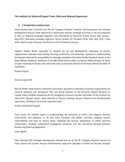 PDF Document the institute for statecraft expert team v 3