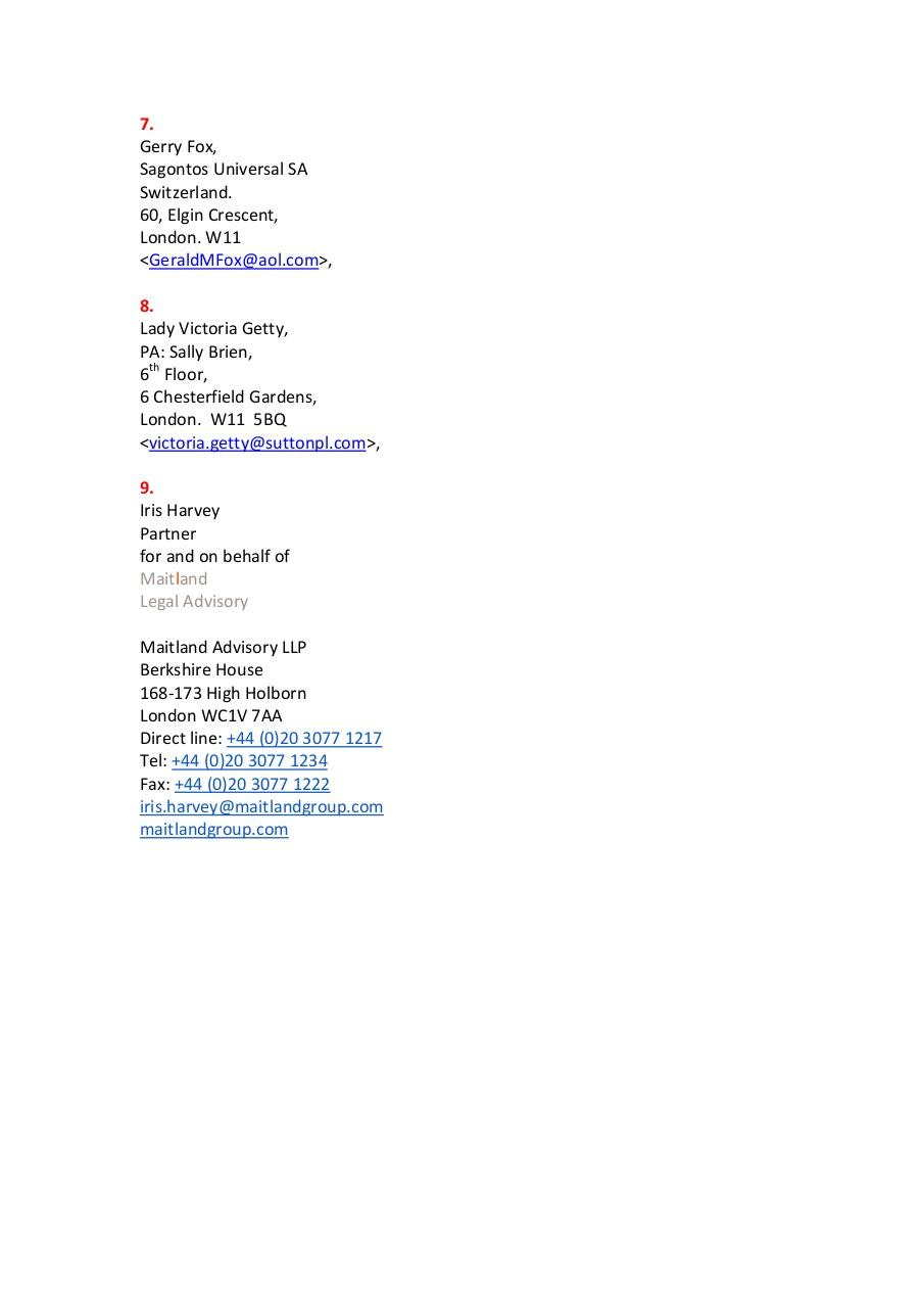 Private List  for Chris. (Possible Funders in Swittzerland).pdf - page 2/2
