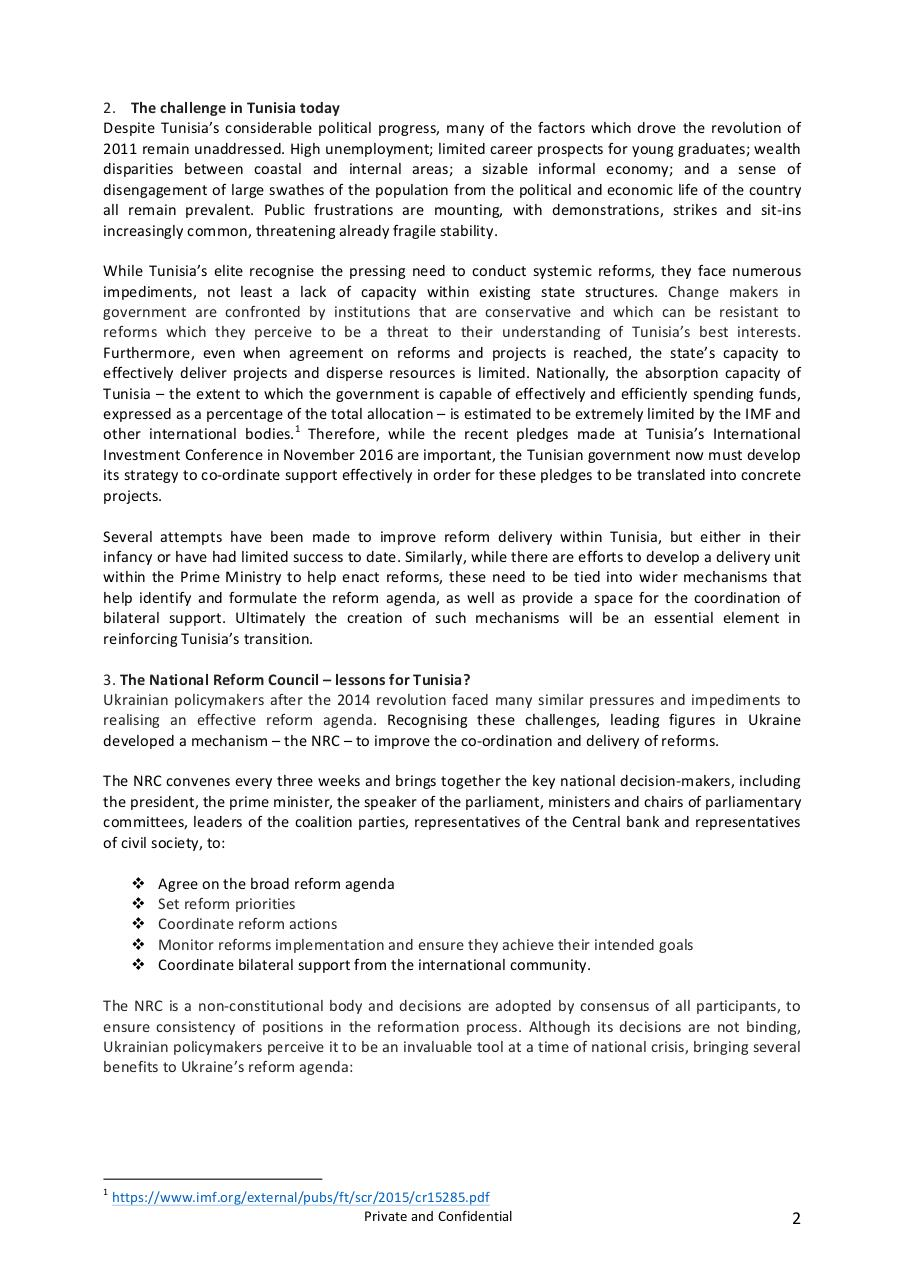 Forward Thinking Report - The potential relevance of the Ukrainian National Reform Council to the Tunisian Transition  - ~1.pdf - page 2/4