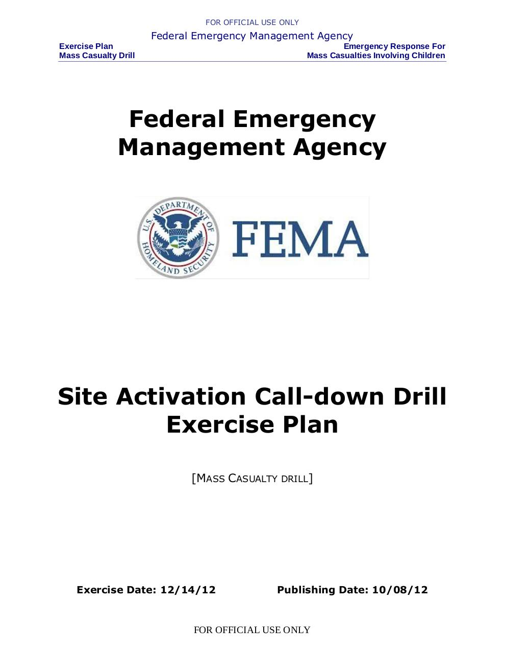 Sandy Hook FEMA Drill drill-site-activation call down exercise plan.pdf - page 1/20