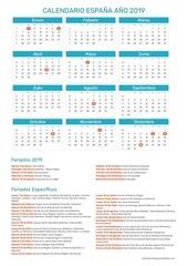 calendario espana 2019