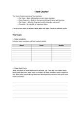 PDF Document team charter