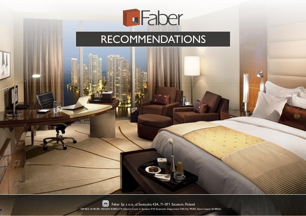 Faber - RECOMMENDATIONS.pdf - page 1/7