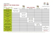 week of the young child calendar