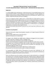 reglement concours festival de cannes
