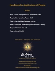 handbook for applications of plasma