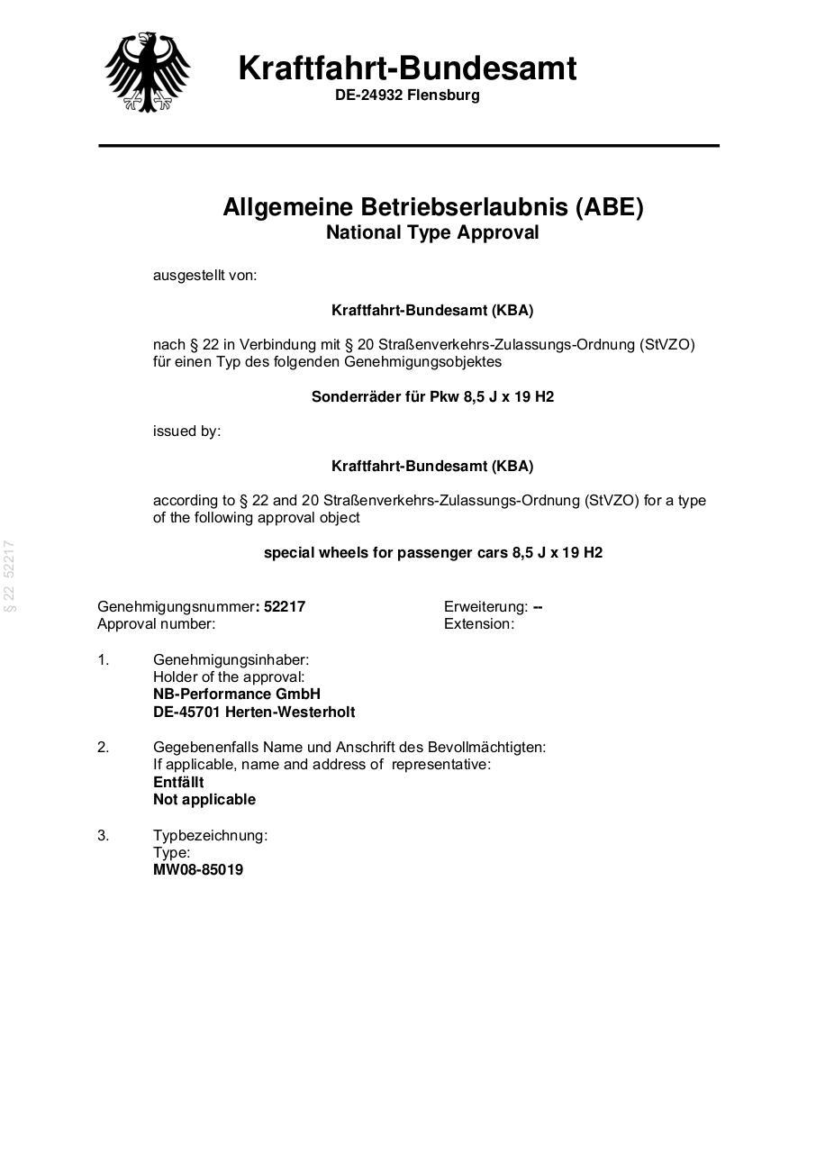 DM05 8,5x19 5x112 ET45 66,6 by Leitner, Sarah - PDF Archive