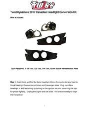 PDF Document 2017 canadian headlight conversion kit intalltion manual