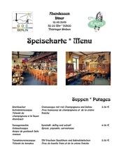 menu speisekarte