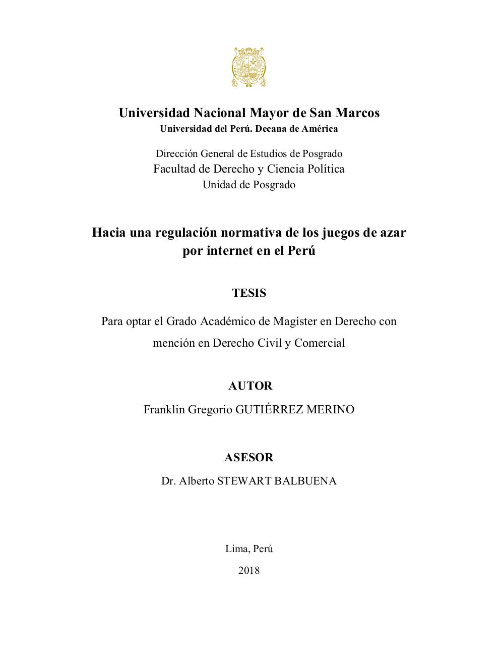 Towards a normative regulation of gambling in Peru.pdf - page 1/192