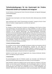 PDF Document teilnahmebedingungen gewinnspiel prokino