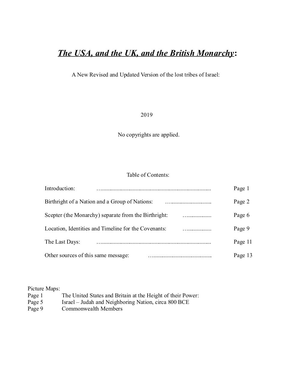 US & B Monarchy Proof by James Cusick - PDF Archive