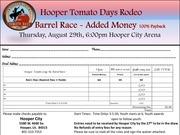 2019 hooper tomato days barrel race