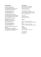 worship lyrics pdf