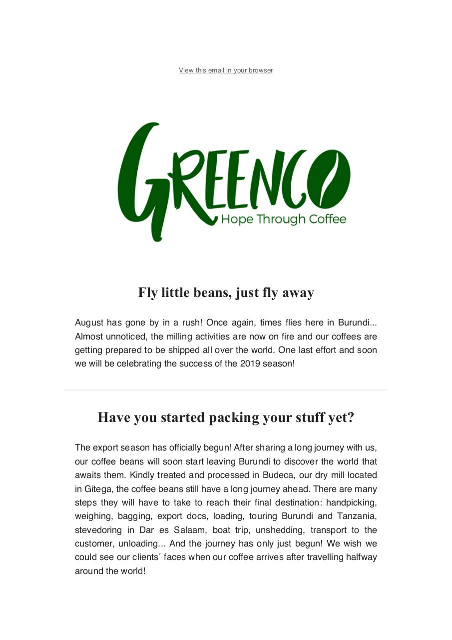 Greenco Burundi Newsletter August 2019.pdf - page 1/8
