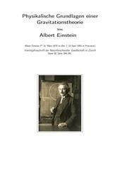 physikalische grundlagen einer gravitationstheorie
