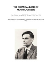 alan mathison turing the chemical basis of morphogenesis