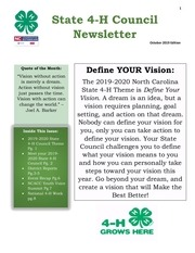 october 4 h newsletter