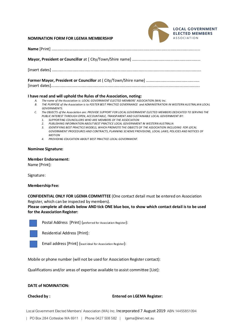 Document preview LGEMA Membership Form.pdf - page 1/1