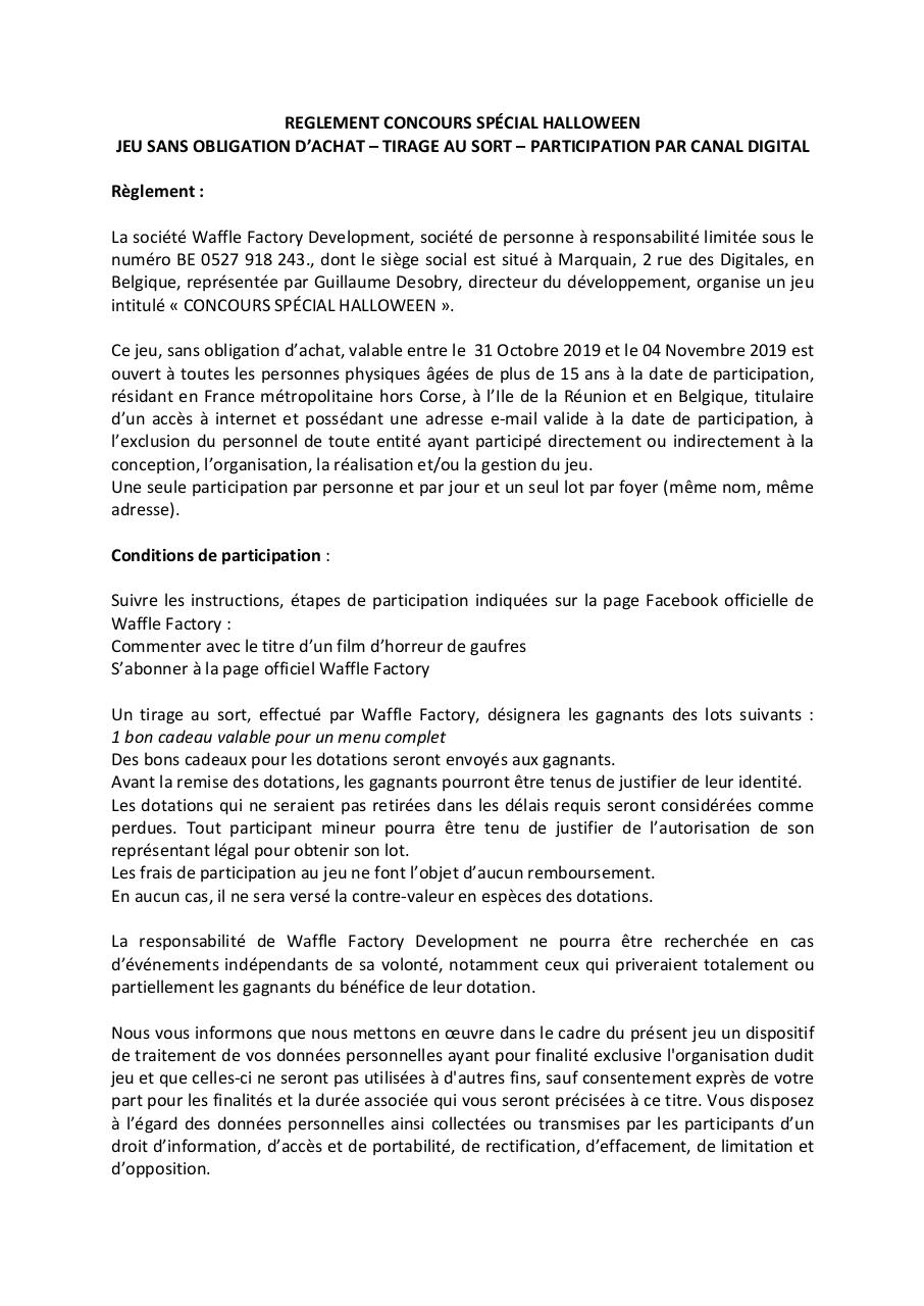 Document preview REGLEMENT CONCOURS HALLOWEEN 2019.pdf - page 1/1