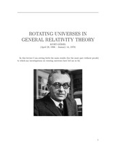 kurt godel rotating universes in general relativity theory