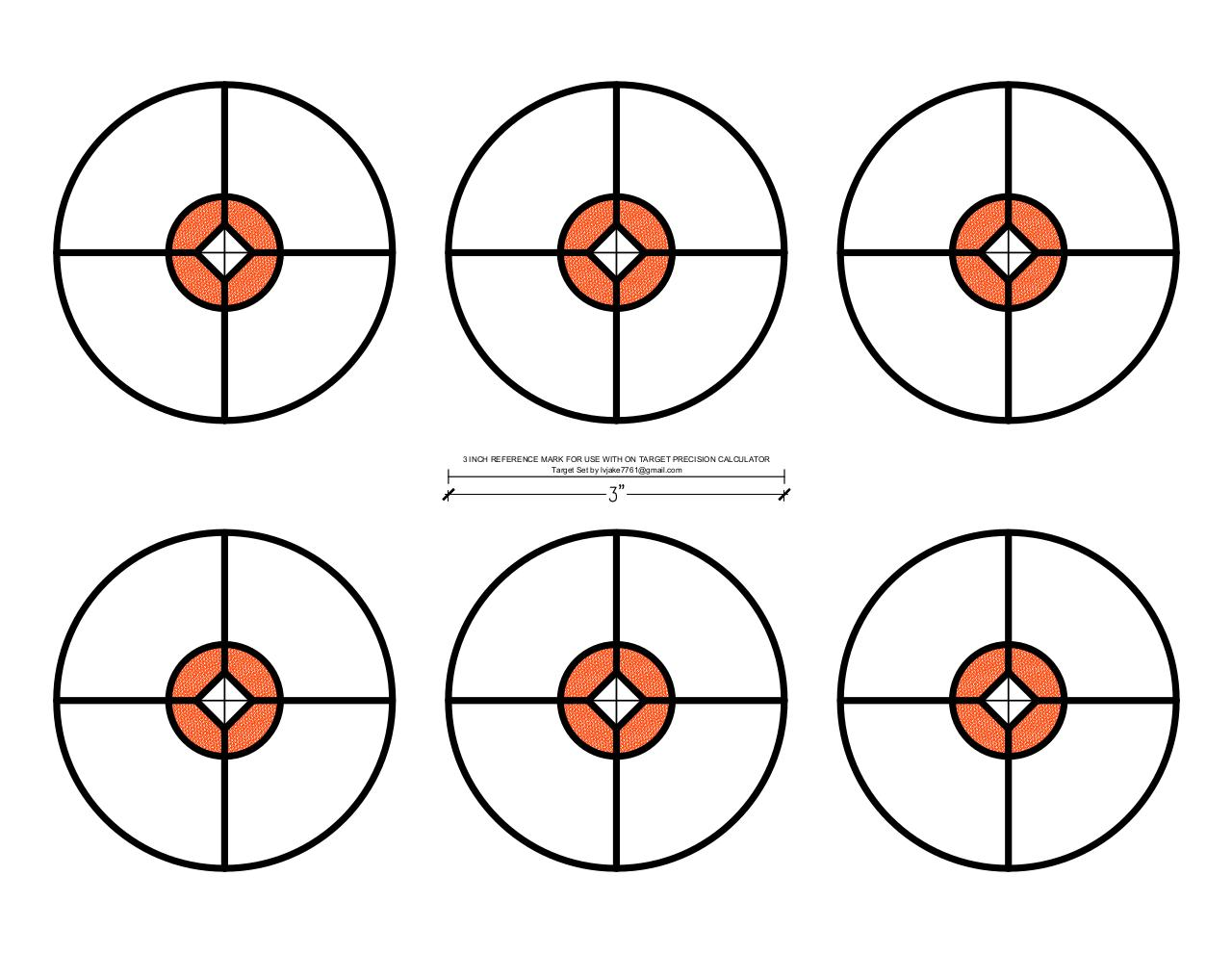 Document preview FREE Printable Targets-6 bulls c.pdf - page 1/1