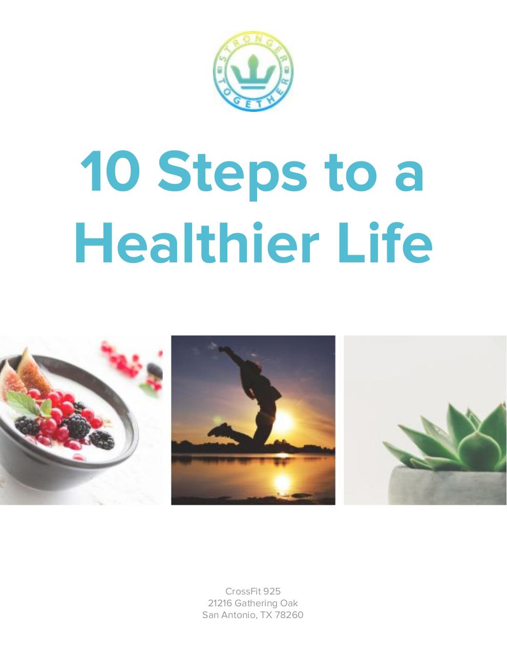 10 STEPS TO A HEALTHIER LIFE.pdf - page 1/12