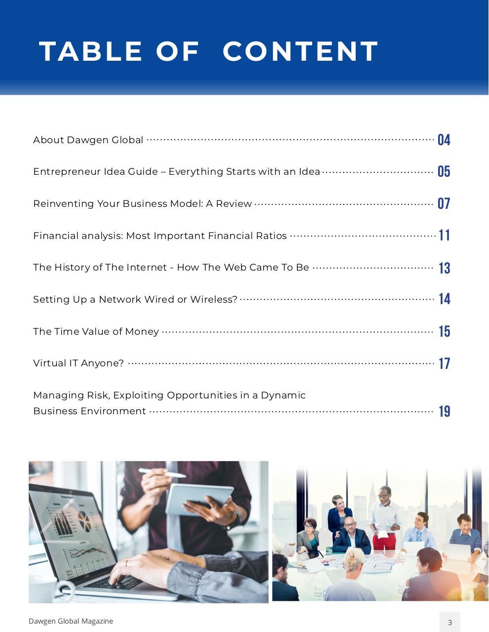 Dawgen Global Insights Vol 1 January 2020 - PDF Archive