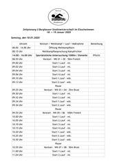 zeitplan wettkampf samstag