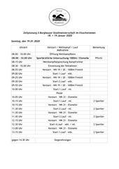 zeitplan wettkampf sonntag