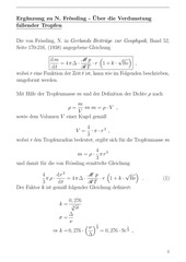derivation froessling equation
