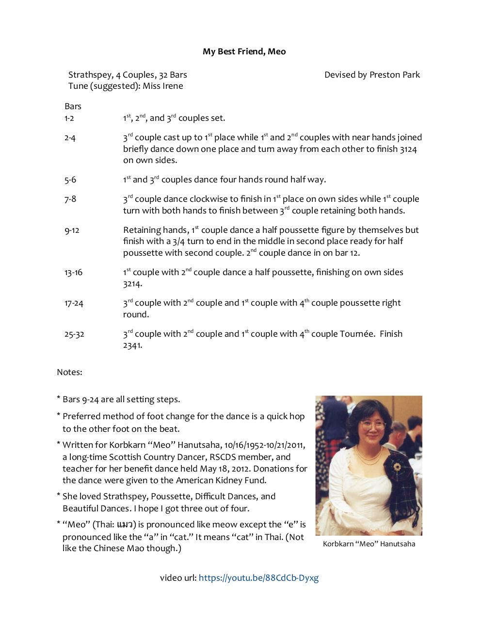 Document preview SCD Dance My Best Friend, Meo (4X32 Strathspey) Revised Clarified X2 URL.pdf - page 1/1