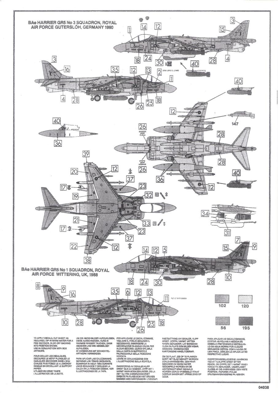 Document preview Airfix 72 BAe Harrier GR.5 (04038).pdf - page 4/5
