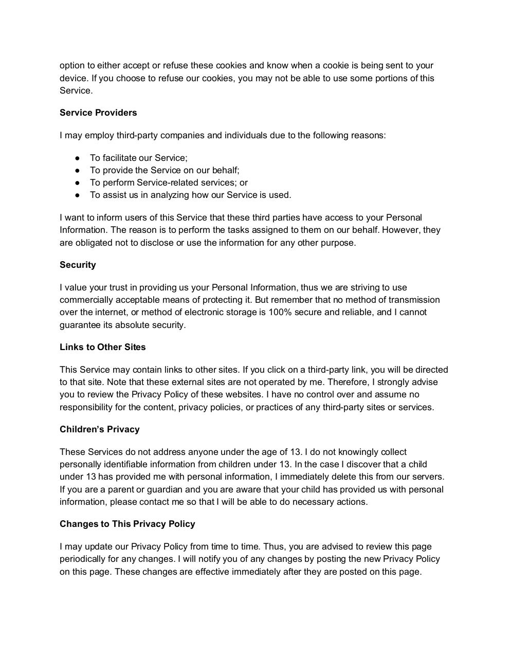 Document preview privacy policy.pdf - page 2/3