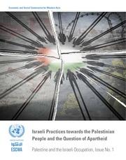 escwa israeli apartheid  occupation