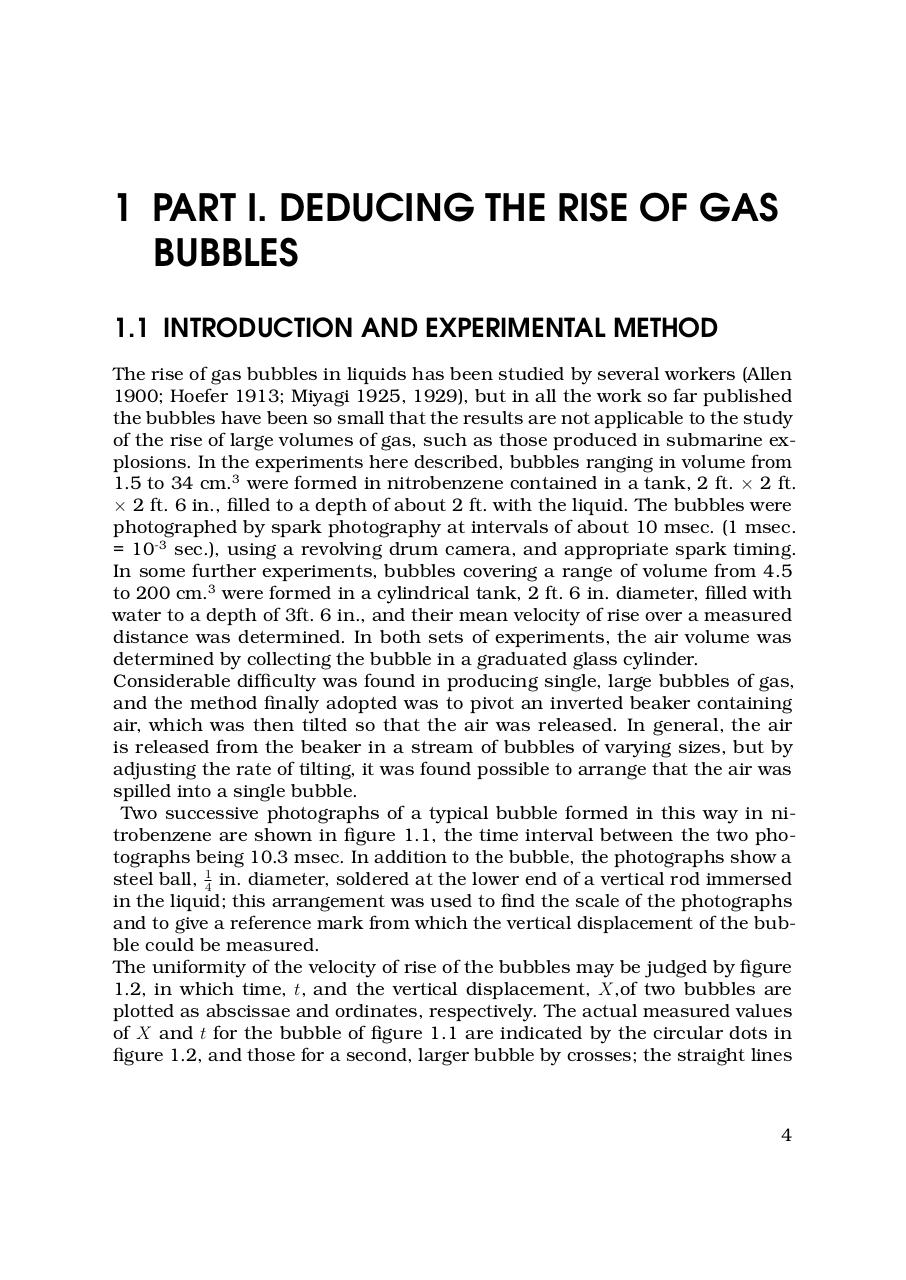 Taylor, G. I. The Mechanics of Large Bubbles Rising through Extended Liquids and through Liquids in Tubes.pdf - page 4/25