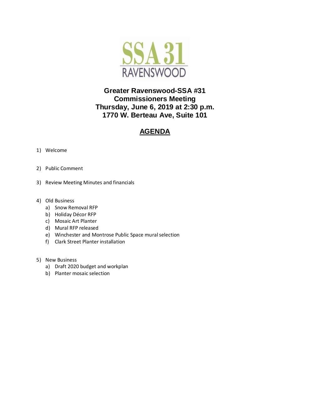 Document preview SSA_31_Agenda_6_6_19_pdf.pdf - page 1/1