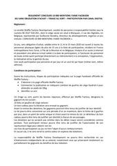 reglement concours 10k facebook