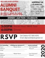 alumni banquet 2020 mailer flyer